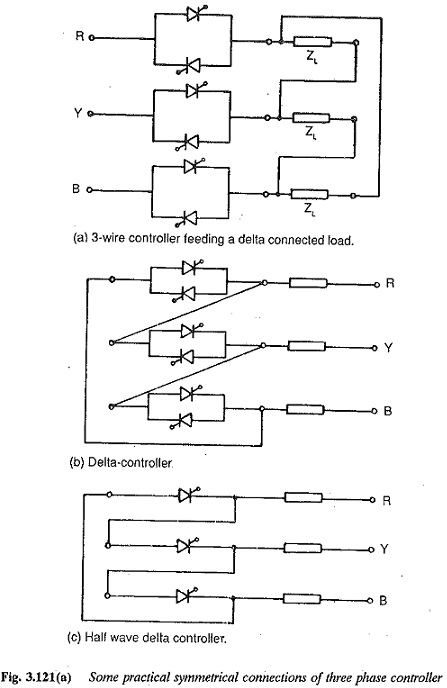 Three Phase AC Voltage Controller Delta Connected Voltage Controller