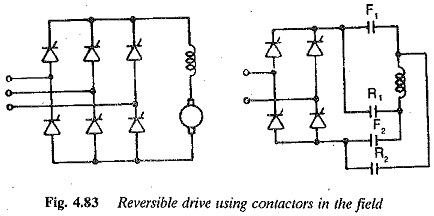 Reversible Drive using Field Reversal