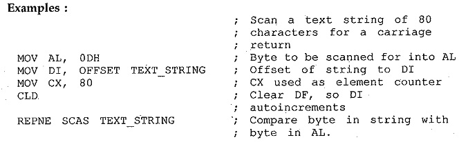 8086 String Instructions