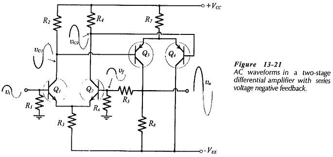 Two Stage Differential Amplifier with Negative Feedback