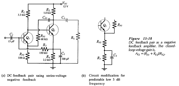 Two Stage Direct Coupled BJT Amplifier Circuit