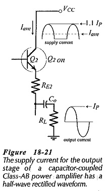 Capacitor Coupled Class AB Output Stage