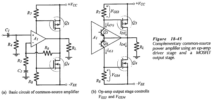mosfet power amplifier with op amp driver stage
