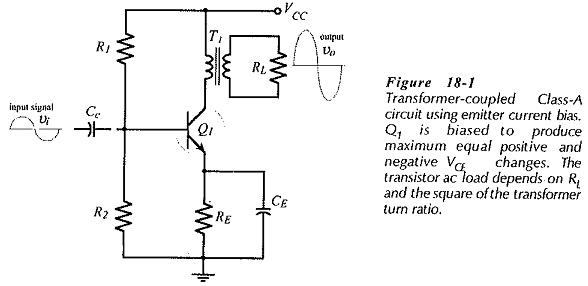 transformer coupled class a amplifier collector voltage swing