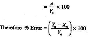Error in Measurement