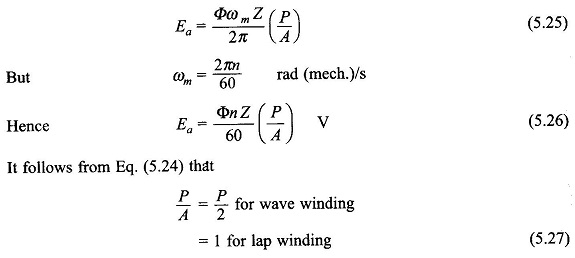 DC Machine Armature Winding