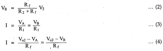 Subtractor or Difference Amplifier