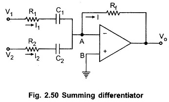 Summing Differentiator Circuit