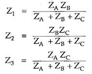 Delta to Star Conversion Formula