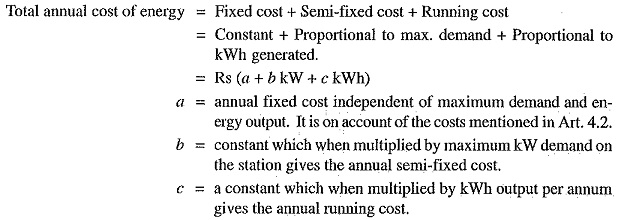 Cost of Electrical Energy