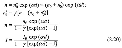 Townsend Current Growth Equation