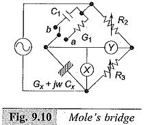 Mole Bridge for Low Frequency Measurements