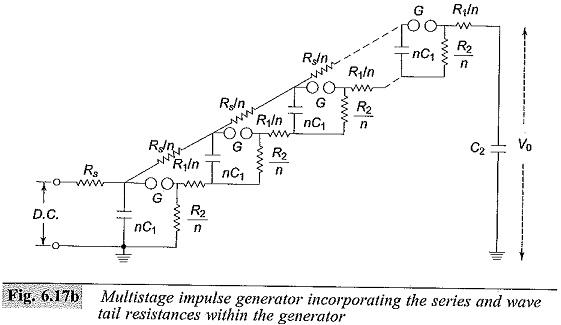 Multistage Impulse Generator Circuit