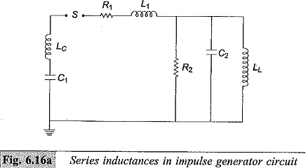 Series Inductance in Impulse Generator Circuit