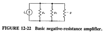 Negative Resistance Amplifier