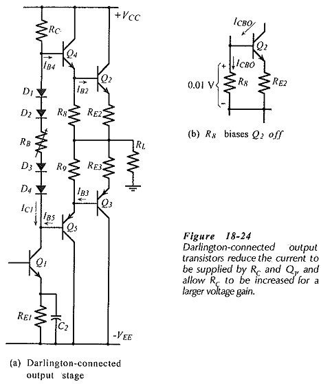 Darlington Connected Output Transistors