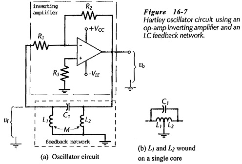 Hartley Oscillators using Op-Amp