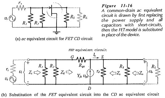 Common Drain Amplifier Circuit Diagram