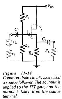 Common Drain Amplifier Circuit Diagram