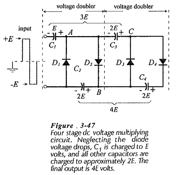 Four Stage DC Voltage Multiplier Circuit