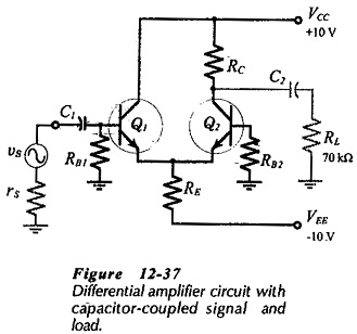 Differential Amplifier Circuit using Transistors