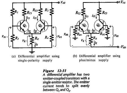 Differential Amplifier Circuit using Transistors