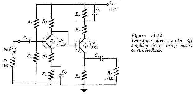 Emitter Current Feedback Circuit