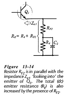 Two Stage CE Amplifier using Series Voltage Negative Feedback