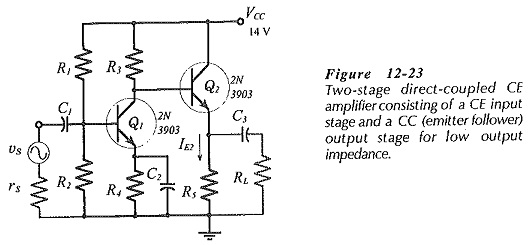Two Stage Direct Coupled Common Emitter Amplifier