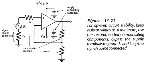 Circuit Stability Precautions