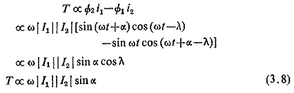Induction Relay Torque Equation