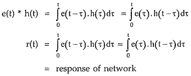 Convolution Integral in Network Analysis