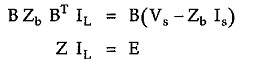 Network Equilibrium Equation in Matrix Form
