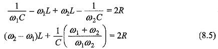 Bandwidth of RLC Circuit