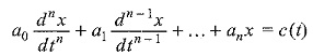 Non Homogeneous Differential Equation
