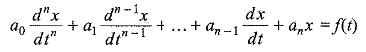 Non Homogeneous Differential Equation