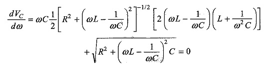 Voltage and Current in Series Resonant Circuit
