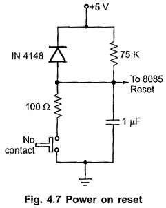 Power on Reset Circuit of 8085